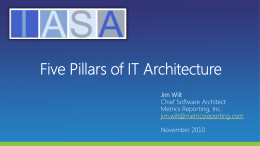 Five Pillars of IT Architecture