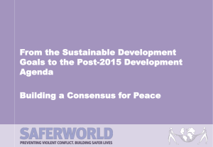 Building a Consensus for Peace
