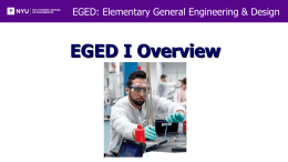 Introduction to EGED I