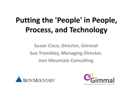 in People, Process, and Technology
