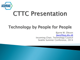 Technology Council Report (June 2014) (PowerPoint)