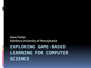 Game based Learning in Computer Science
