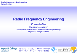 Radio Frequency Engineering Introduction Stepan