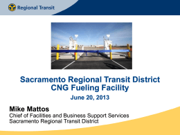 CNG Fueling Facility - Clean Cities Sacramento