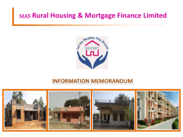 File - Mas Rural Housing and Mortgage Finance Limited