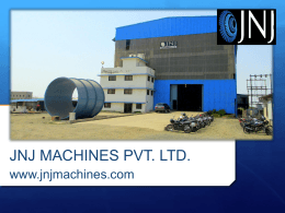 JNJ Machines - Fabrication