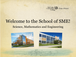 sme activities - Salt Lake Community College