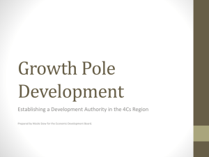 Growth Pole Development - Economic Development Board Trinidad