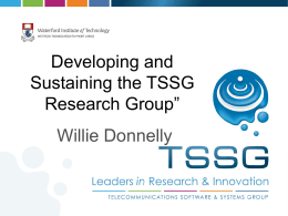 TSSG - Letterkenny Institute of Technology