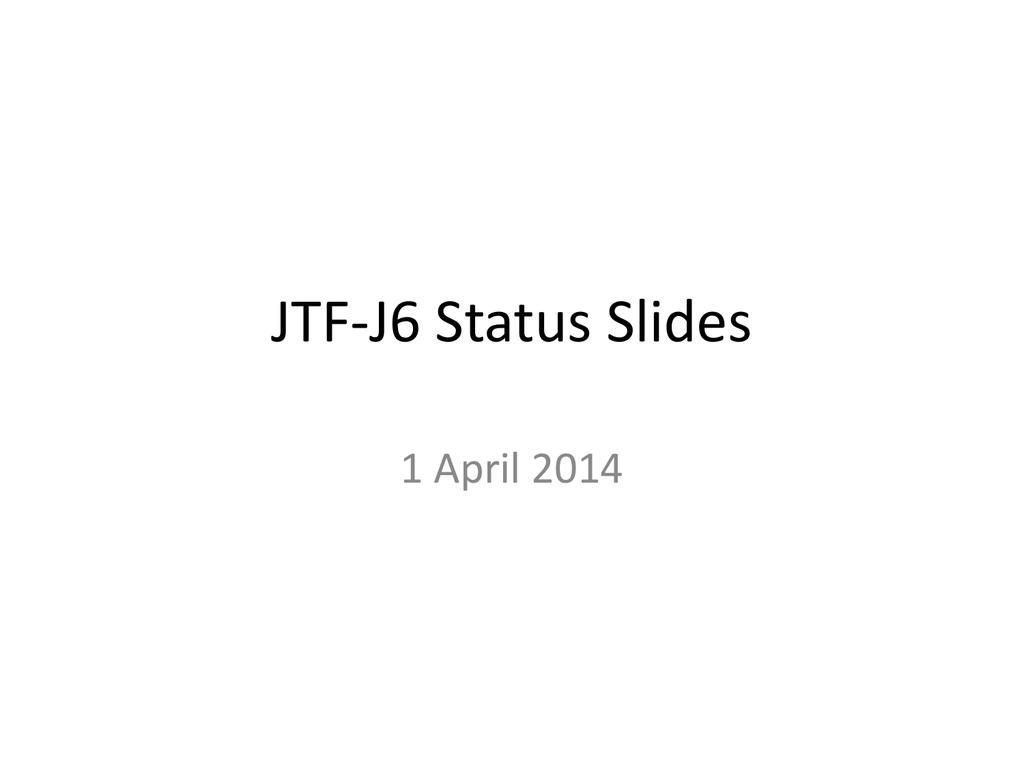 J6 Status Slides1april Apan Community Sharepoint