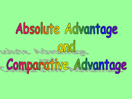 Absolute and Comparative