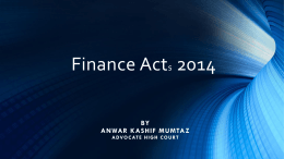 FINANCE ACT-2014-by Mr. Anwar Kashif