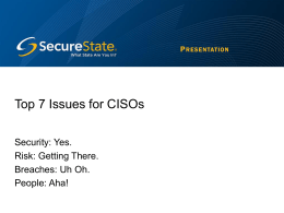Top Issues of CISOs