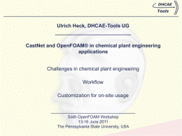 CastNet and OpenFOAM® in chemical plant