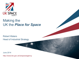 UK Space Agency slide set as presented