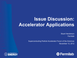 Accelerator applications