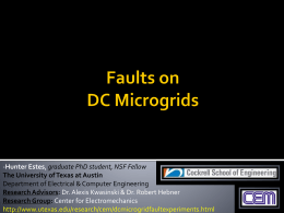 Parallel Faults on DC Microgrids - The University of Texas at Austin