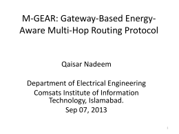 M-GEAR: Gateway-Based Energy-Aware Multi