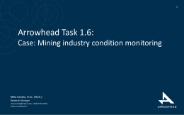 Case: Mining industry condition monitory