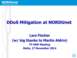 DDoS Mitigation at NORDUnet