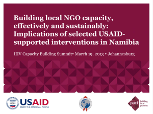 Implications of selected USAID-supported interventions in Namibia