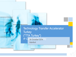 TTA Turkey Fund - IP Conference 2014