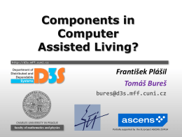 Software Components in Computer Assisted Living?