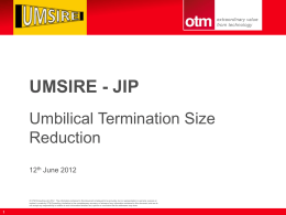 Agenda Item 6. Introduction to UMSIRE - JIP