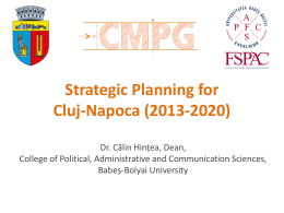 Strategic Planning for Cluj-Napoca (2013-2020