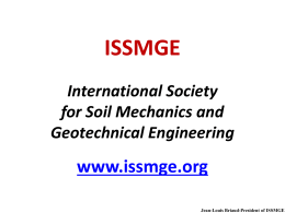 ISSMGE 1 March 2013 - International Society for Soil