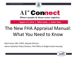 Doing Business with FHA