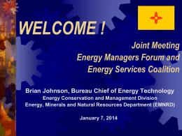 WISE Energy Managers - New Mexico - Energy, Minerals and Natural