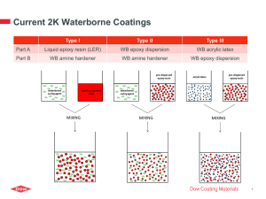 Current 2K Waterborne Coatings