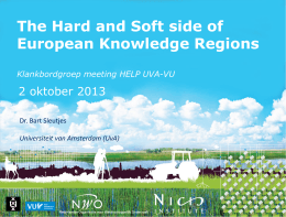 The Hard and Soft side of European Knowledge Regions