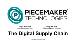 The Digital Supply Chain