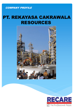 company profile - PT.Rekayasa Cakrawala Resources