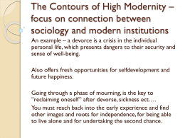 The Contours of High Modernity