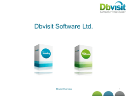 Dbvisit Software - Partner Presentation Template