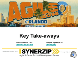 Top Key Take-aways from the Agile 2014 Conference