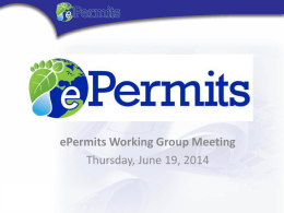 ePermits Working Group Meeting