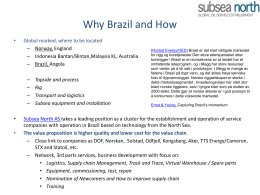Brazil - Subsea North