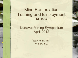 Mine Remediation: Training and Employment Opportunities