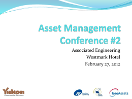 Asset Management - Department of Community Services