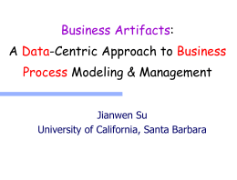 Biz process modelers, administrators - University of California, Santa