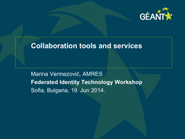 Collaboration tools and services
