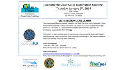 January 9 - Clean Cities Sacramento