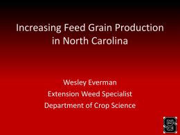 Increasing Feed Grain Production in North Carolina