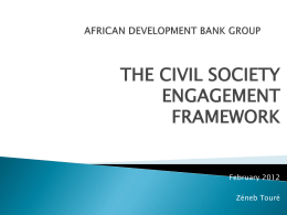 Presentation - The Civil Society Engagement Framework