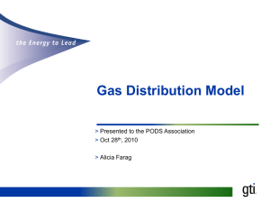 The Gas Distribution Model Update - Open, Industry