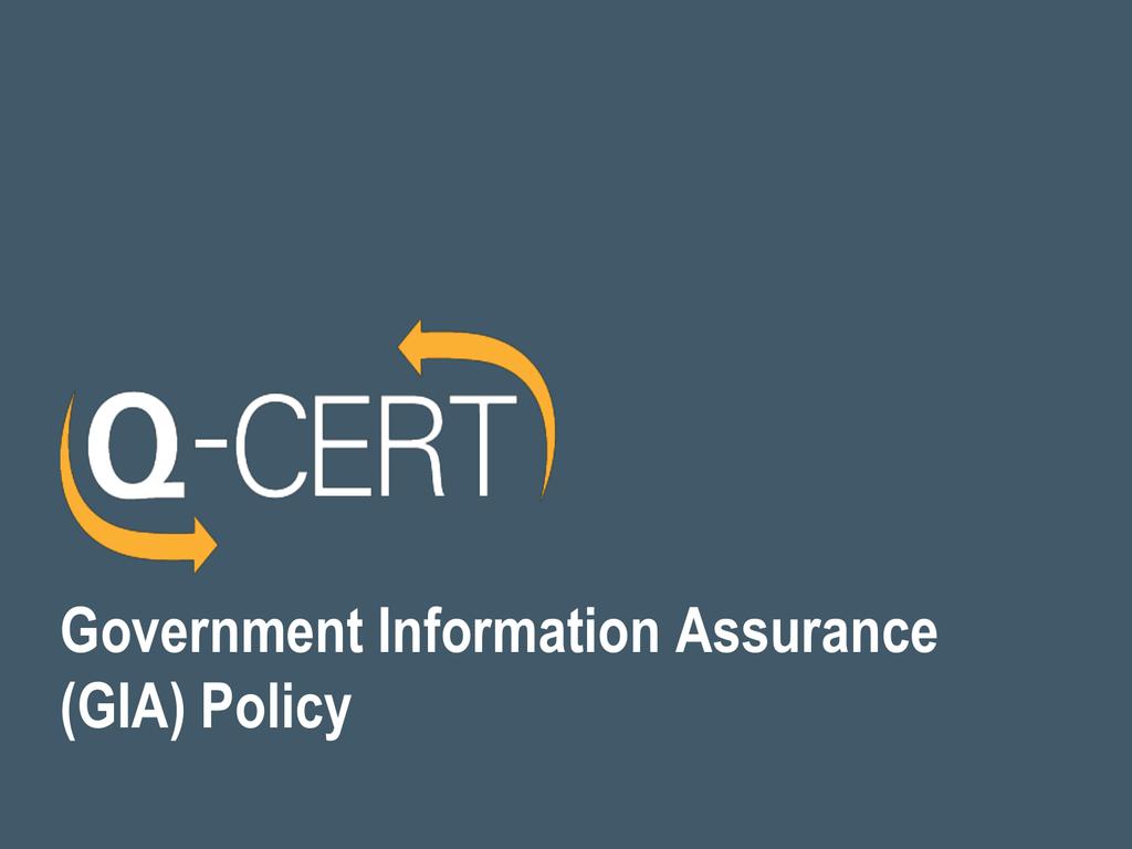 Giam Ciip Certification State Of Qatar Q Cert